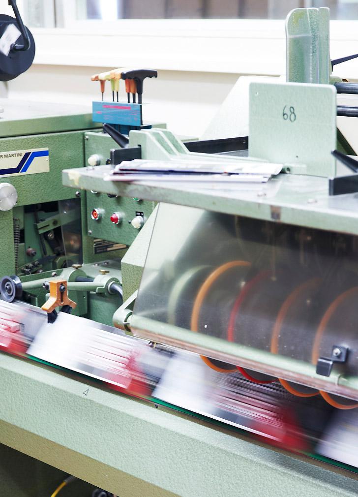 Unser Maschinenpark in der Weiterverarbeitung